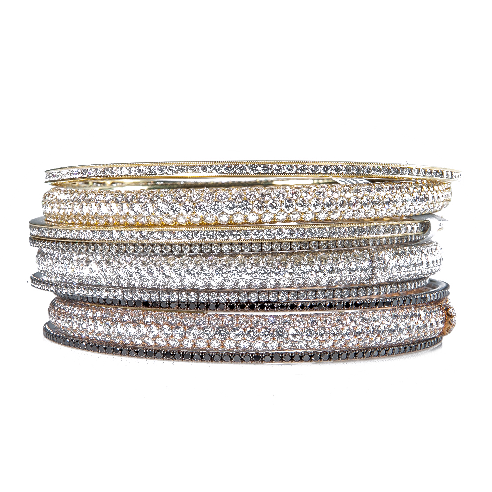 lyst pave bangles gallery small messika jewelry bracelet none white in gold normal product bangle diamond
