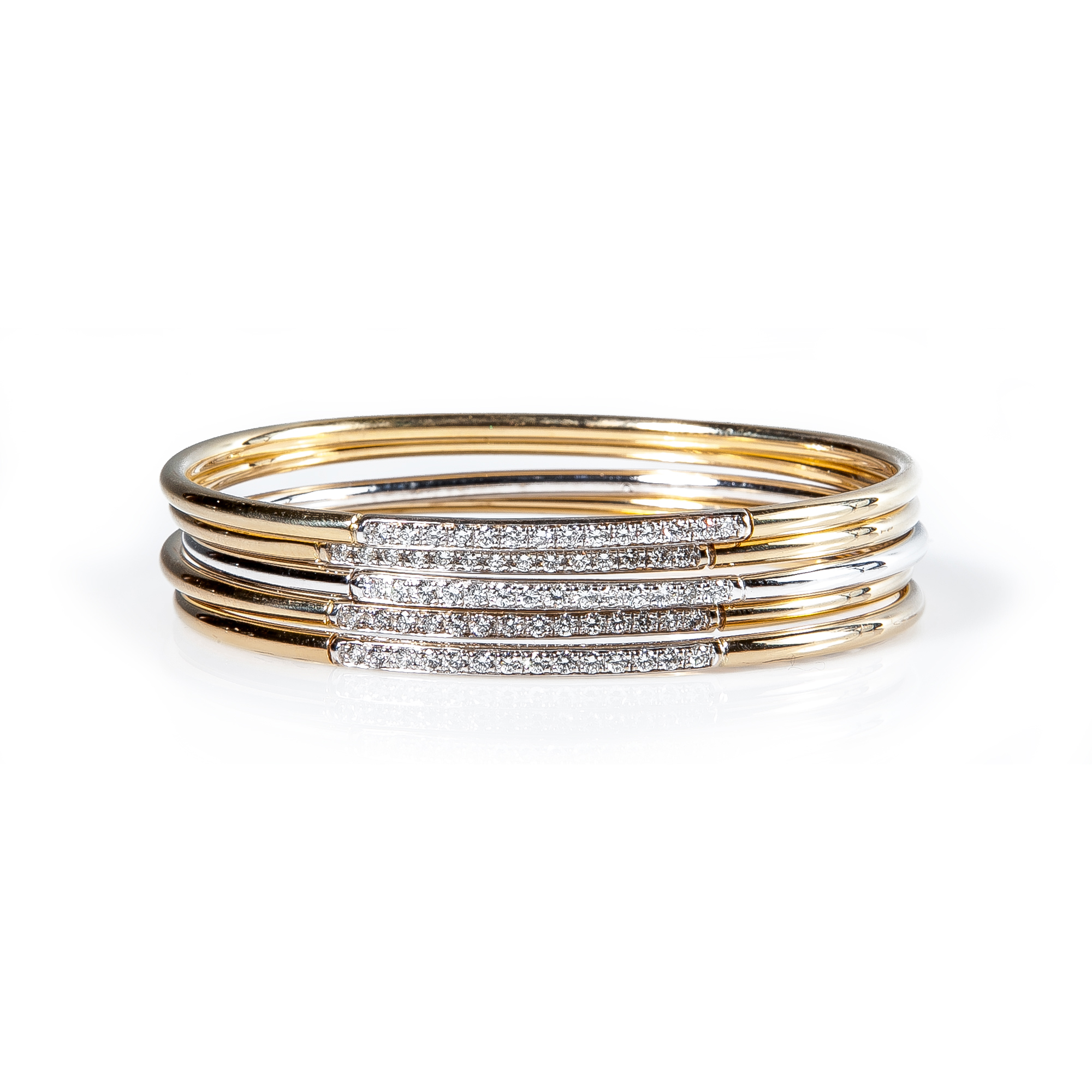 on diamond white in lyst bangle fullscreen jewelry metallic view bangles fire gold copley hearts